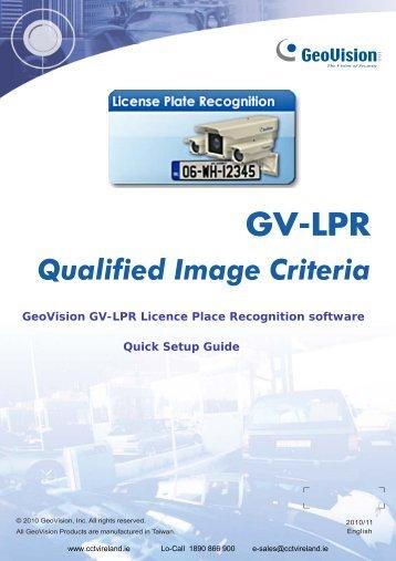 GeoVision GV-LPR Licence Plate Recognition Guide ... - CCTV Ireland