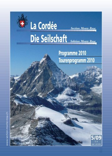 Cordée journal programme 06 - Section Monte Rosa