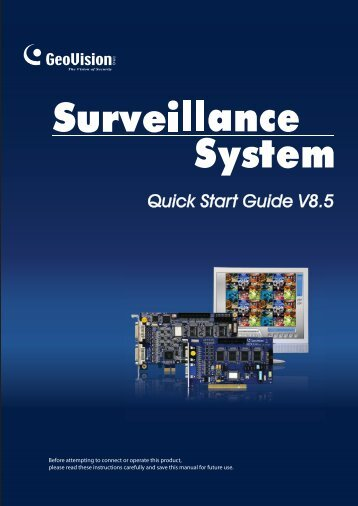 GeoVision V8.5 DVR Quick Guide (PDF) - Security Camera Systems