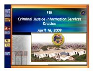 FBI Criminal Justice Information Services Division April 16 ... - Search