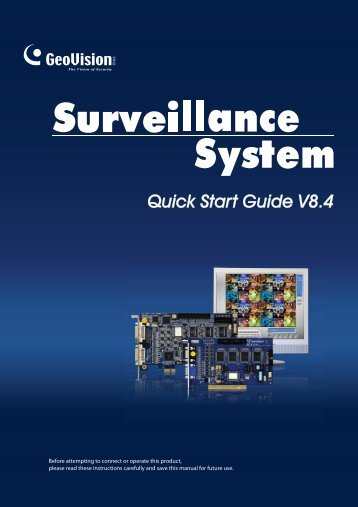 Quick Start Guide V8.4 - Geovision DVR Cards