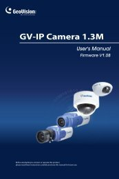 GV-IP Camera 1 - GeoVision.be