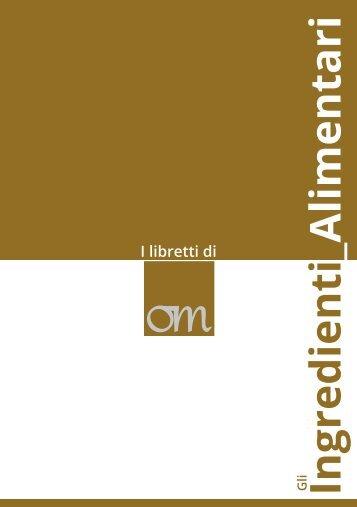 Ingredienti _Alimentari I libretti di - food & tec