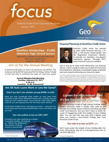 January 2011 - GeoVista Credit Union