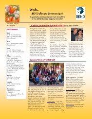 Newsletter April 2012 - SEND Spain Website