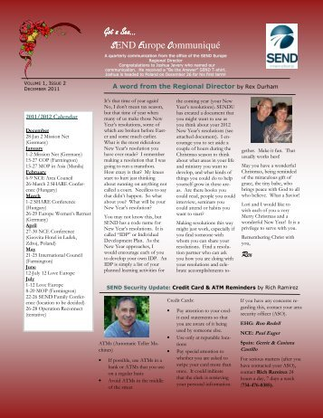 Newsletter December 2011 - SEND Spain Website