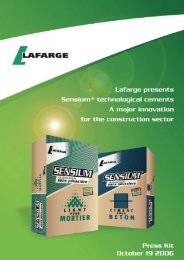 Dossier de presse Lafarge / Lafarge press kit