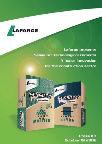 Dossier de presse Lafarge / Lafarge press kit