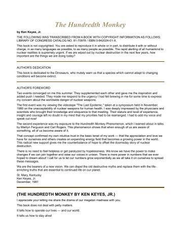 The Hundredth Monkey - Goodreads