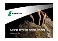 Communiqué de presse Lafarge / Lafarge press release