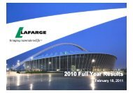 The slides for the analyst presentation - Lafarge