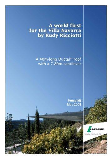 A world first for the Villa Navarra by Rudy Ricciotti - Lafarge