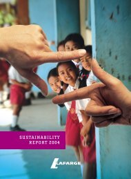 The report - Lafarge