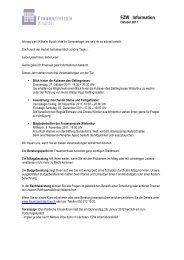 FZW Information - Frauenzentrale Winterthur