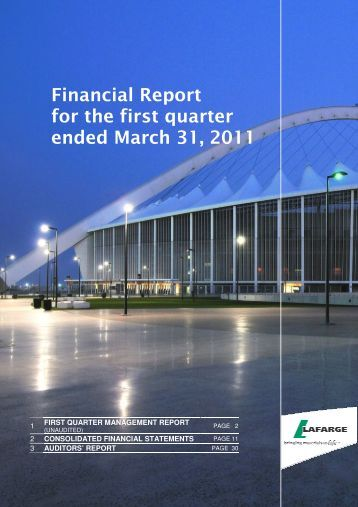 The financial report - Lafarge