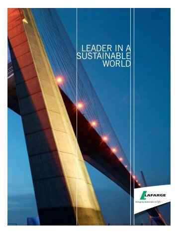 Brochure: Lafarge, Leader in a Sustainable World