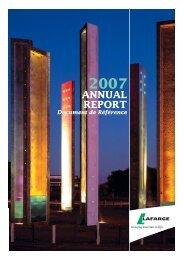 2007 annual report - Document de référence