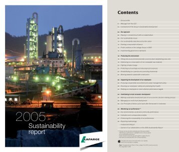 2005 Sustainability Report - Lafarge