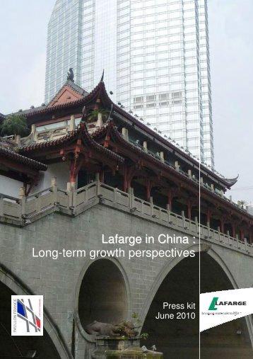 Press kit: Lafarge in China