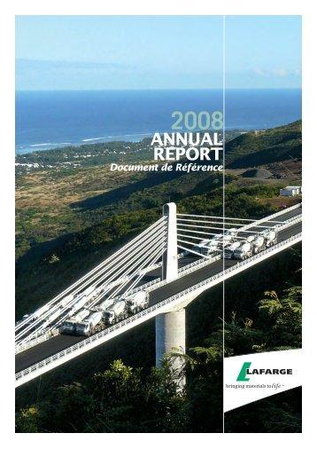 Lafarge 2008 Annual Report