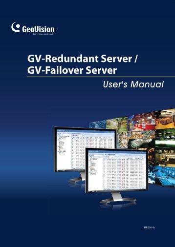 GV-Redundant and Failover Server User Manual(RFSV1