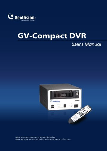 GV-Compact DVR - Videovigilancia