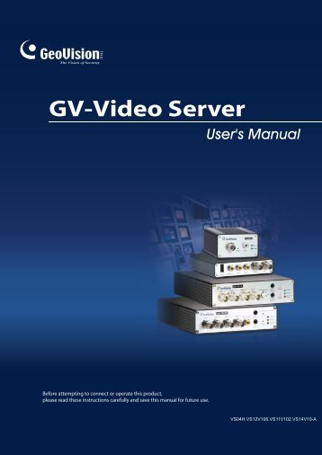 User's Manual GV-Video Server