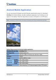 Android Mobile Application - GeoVision
