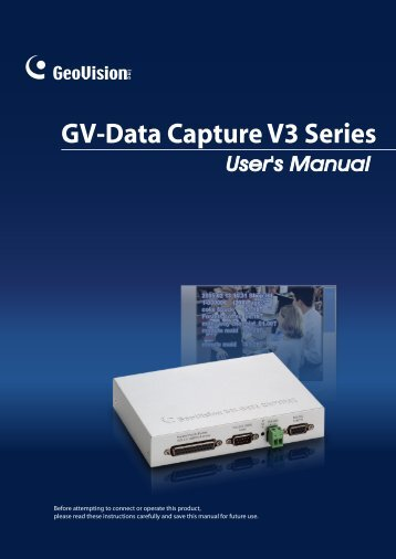 GV-Data Capture V3 Series - GeoVision