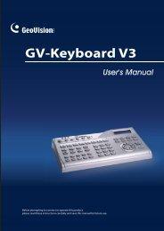 GV-Keyboard V3 - ApexCCTV
