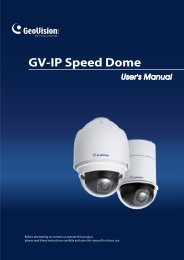 GV-IP Speed Dome Specifications - GeoVision