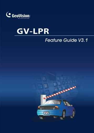 GV-LPR Feature Guide - GeoVision