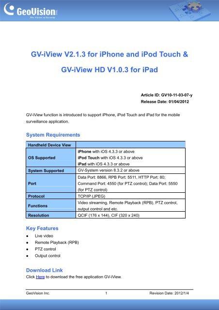 geovision version 8.3.2