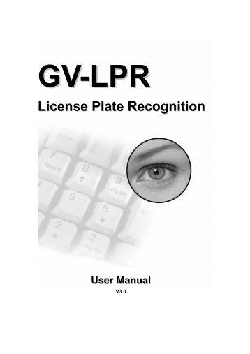 GV-LPR License Plate Recognition User Manual - GeoVision