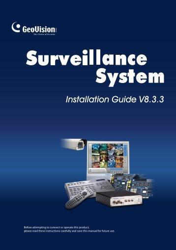 Installation Guide V8.3.3 - geovision-bg.com