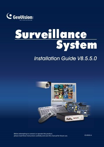 Installation Guide V8.5.5.0 - Ezcctv