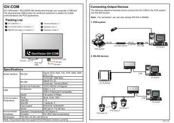 GV-COM Installation Guide - GeoVision