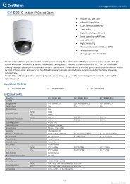 Geovision GV-SD010-18X Speed Dome Specification - Surveillance ...