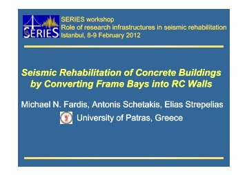 Seismic Rehabilitation of Concrete Buildings by Converting Frame ...