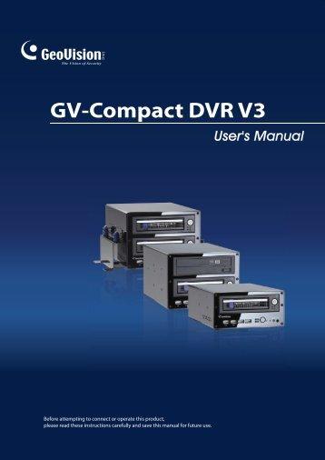 GV-Compact DVR V3 - Videosorveglianza