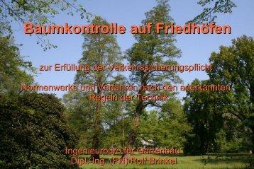 Baumkontrolle auf Friedhöfen - Landwirtschaft in Sachsen