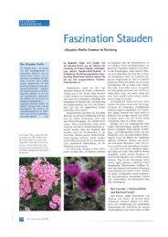 Der Gartenbau 8/2008; Stauden Profi Seminar ... - Frikarti Stauden AG