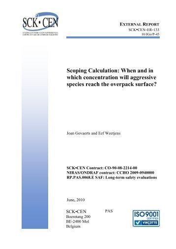 CO-90-08-2214-00 NIRAS/ONDRAF contract - SCK-CEN